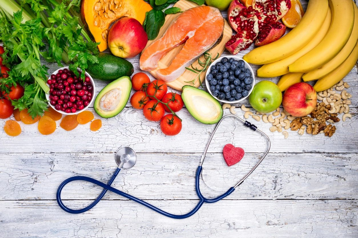 Food, Stethoscope and Heart